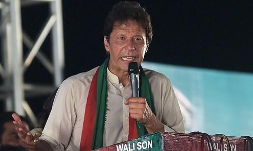 Imran Khan slams the idea that his party's popularity is rising due to the Army