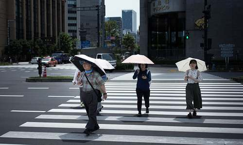 Record high in Japan as heatwave torments region