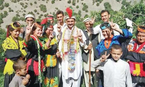 Kalash celebrate PTI's poll victory