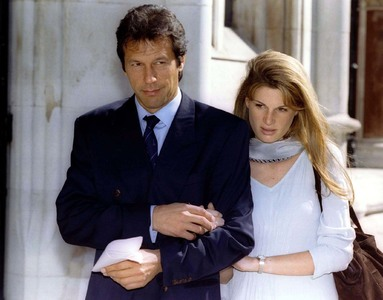 Imran Khan with Jemima at the London's High Court on July 26 1996. ─ File