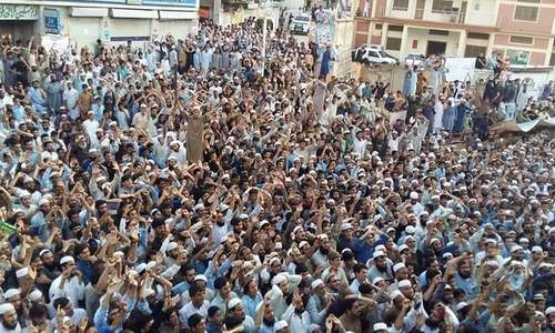 Protest against alleged poll rigging in Battagram enters third day