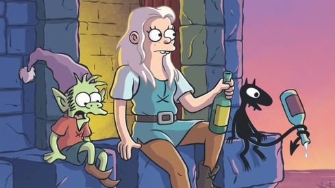 Disenchantment stands out as an adult cartoon with a female lead