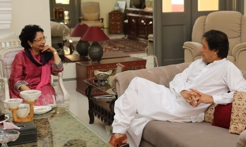 Maleeha Lodhi meets Imran at Banigala