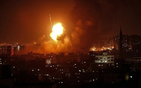 Wave of Israeli strikes hit Gaza after rocket barrage, toddler killed