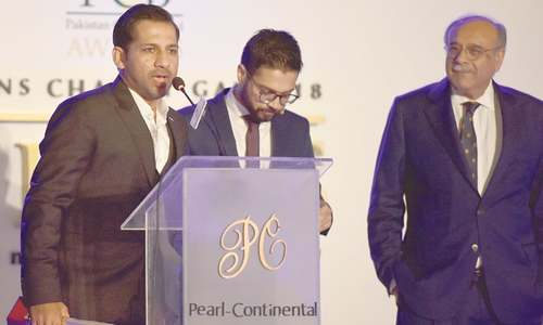 PAKISTAN captain Sarfraz Ahmed speaks.—White Star