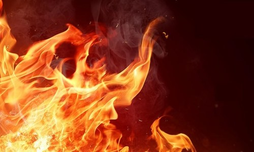 Election record of Dadu destroyed in late night fire