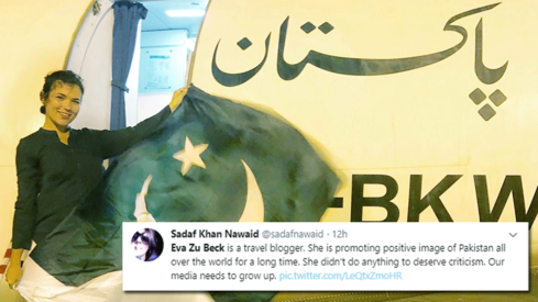 This travel blogger did the Kiki Challenge on a PIA aircraft and Pakistanis are lauding her
