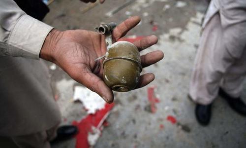 نوشکی میں دستی بم حملہ، 14 افراد زخمی