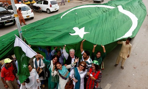 August ceremonies on Independence Day in Lahore