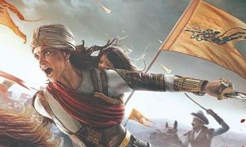 بیٹی کو سنبھالے جنگ میں لڑتی 'جھانسی کی رانی'