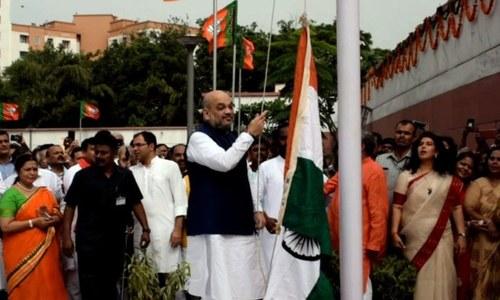 بھارت کا یوم آزادی: 'بی جے پی' صدر کو خفت اٹھانی پڑ گئی