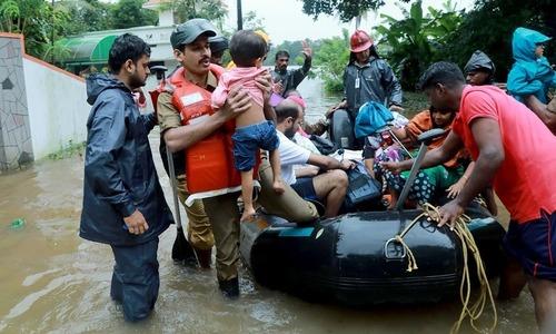 بھارت: کیرالا میں طوفانی بارشوں، سیلاب سے 67 افراد ہلاک