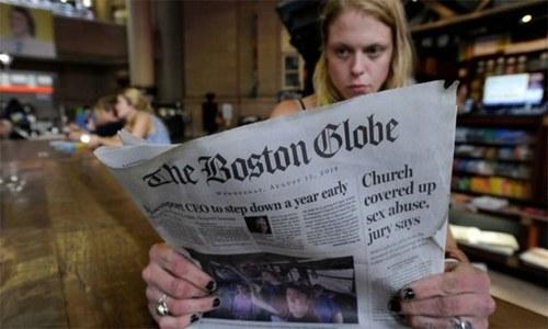 ٹرمپ کے بیانات پر 300 امریکی اخبارات کی مہم