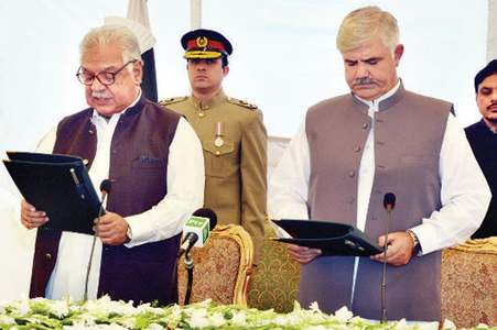 New CM takes oath; governor quits