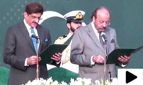 مراد علی شاہ نے وزیراعلیٰ سندھ کے عہدے کا حلف اٹھا لیا