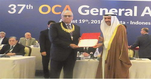 OCA honours POA chief Arif Hasan