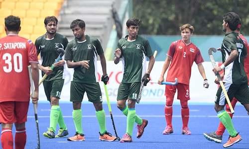 ایشین گیمز میں قومی ہاکی ٹیم کا کامیاب آغاز، تھائی لینڈکو 0-10سے شکست