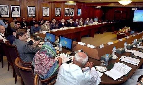 سندھ کابینہ کا پہلا اجلاس:کراچی کیلئے پانی کے نئے پلانٹ لگانے کا فیصلہ