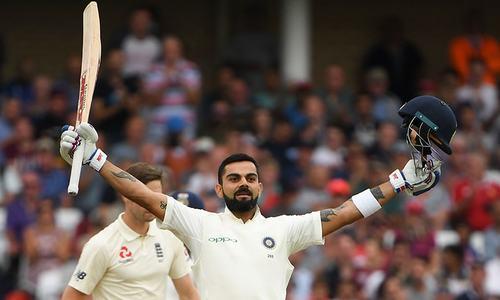کوہلی کی سنچری، انگلینڈ کو فتح کیلئے 521 رنز کا ہدف