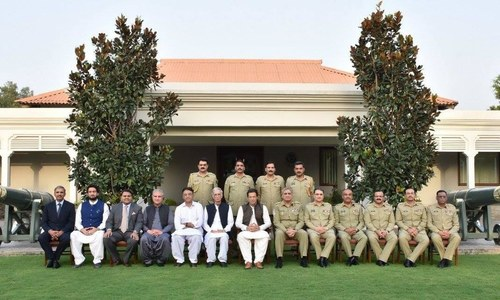 Prime Minister Imran Khan visits GHQ for security briefing