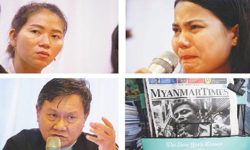 Families of jailed reporters appeal for release