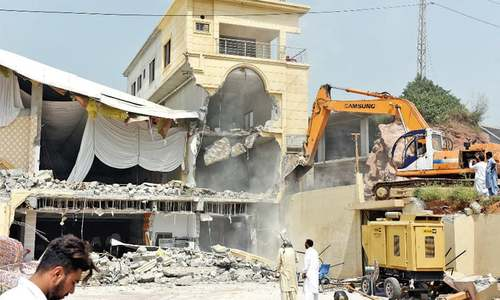 CDA demolishes over a dozen buildings in grand anti-encroachment operation