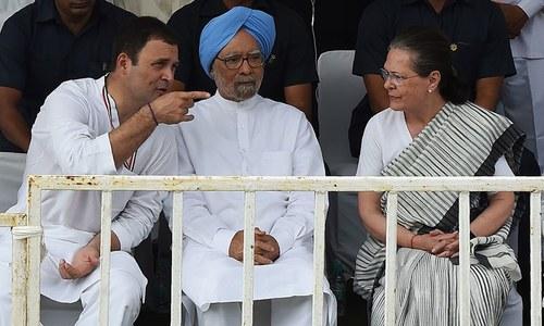 کانگریس کے صدر راہول گاندھی نے تحریک کی قیادت کی — فوٹو: اے ایف پی