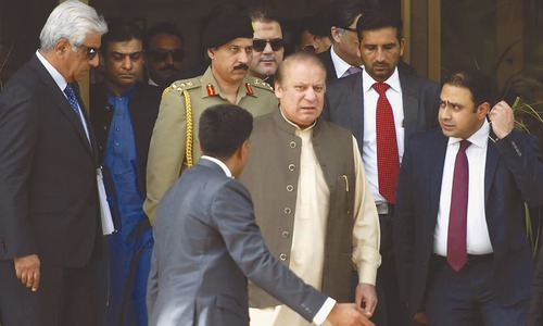 Nawaz Sharif leaves the premises of the joint investigation team on June 15, 2017 in Islamabad | Mohammad Asim, White Star