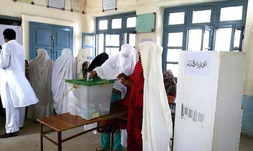 Joint polling stations result in low women turnout in Shangla