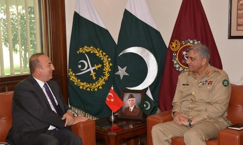 ملاقات کے دوران علاقائی سیکیورٹی پر تبادلہ خیال کیا گیا— فوٹو: آئی ایس پی آر