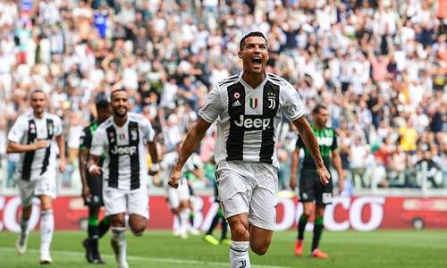 Ronaldo gets off the mark for Juventus against Sassuolo