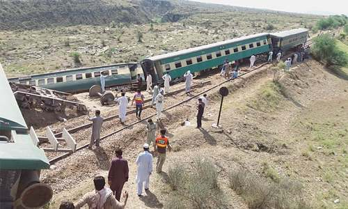 21 injured as train derails near Mianwali