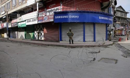 بھارت کی ریاستی دہشت گردی کے خلاف کشمیر میں شٹر ڈاؤن ہڑتال