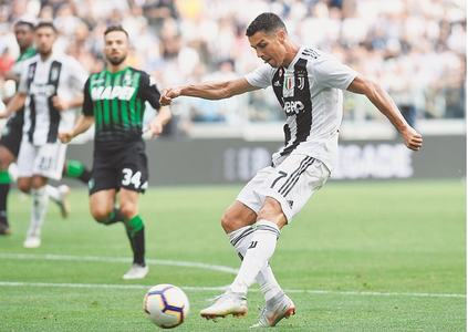 Long wait is over as Ronaldo off the mark for Juve