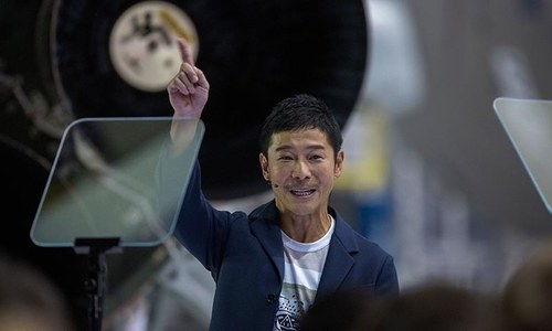 Japanese billionaire businessman revealed as SpaceX's first Moon traveler