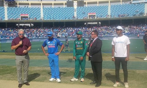 Pakistan win the toss, opt to bat first against India
