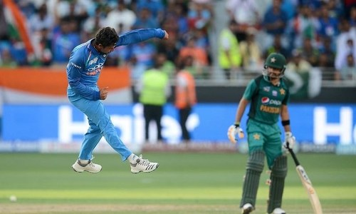 Pak vs India: India skittle Pakistan's brittle batting unit for 162 runs