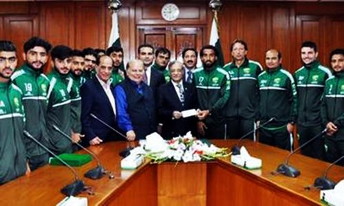 Football foundation donates Rs1.2m to dam fund