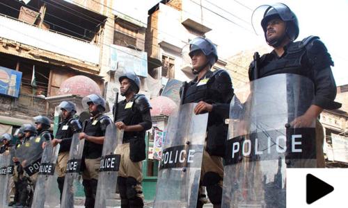 9 محرم کے جلوس کے لیے سخت سیکیورٹی انتظامات