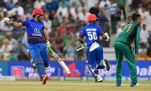 Pakistan fielders dropped four catches against Afghanista — AFP