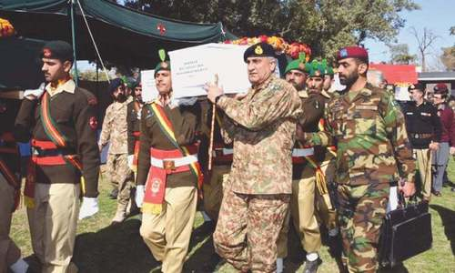 COAS attends funeral prayers of 7 soldiers martyred in North Waziristan