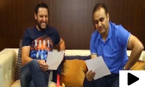 شاہد آفریدی اور وریندر سہواگ کی ویڈیو وائرل