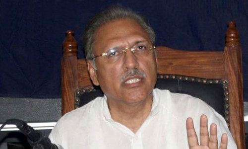 President Alvi says registration of FIR against people protesting against his protocol 'ridiculous'