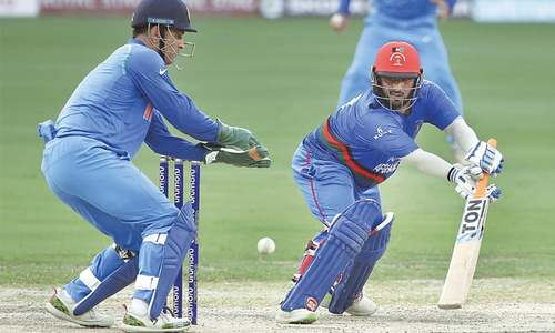 Ton-up Shahzad powers Afghanistan to healthy total