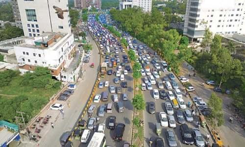 Two demos cause epic traffic jam