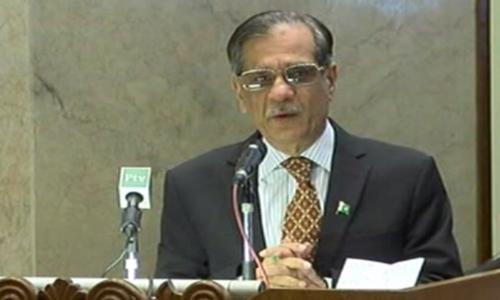 اہلیان کراچی کو 25 دسمبر کو خوشخبری دیں گے، چیف جسٹس