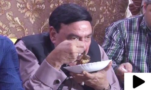 شیخ رشید کا راولپنڈی میں تگڑا ناشتہ