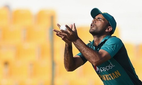 Fakhar Zaman takes a catch that dismissed Bangladesh batsman Soumya Sarkar. — AFP