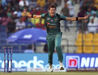Shaheen Afridi appeals unsuccessfully for the wicket of Bangladesh's Mohammad Mithun — AP