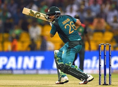 Imam-ul-Haq plays a shot during the Asia Cup cricket match between Bangladesh and Pakistan — AFP